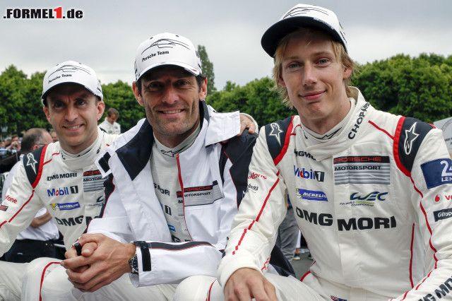 Brendon Hartley: Timo Bernhard Mark Webber Brendon Hartley Red Bull Red Bull Racing F1 ~Timo Bernhard, M...