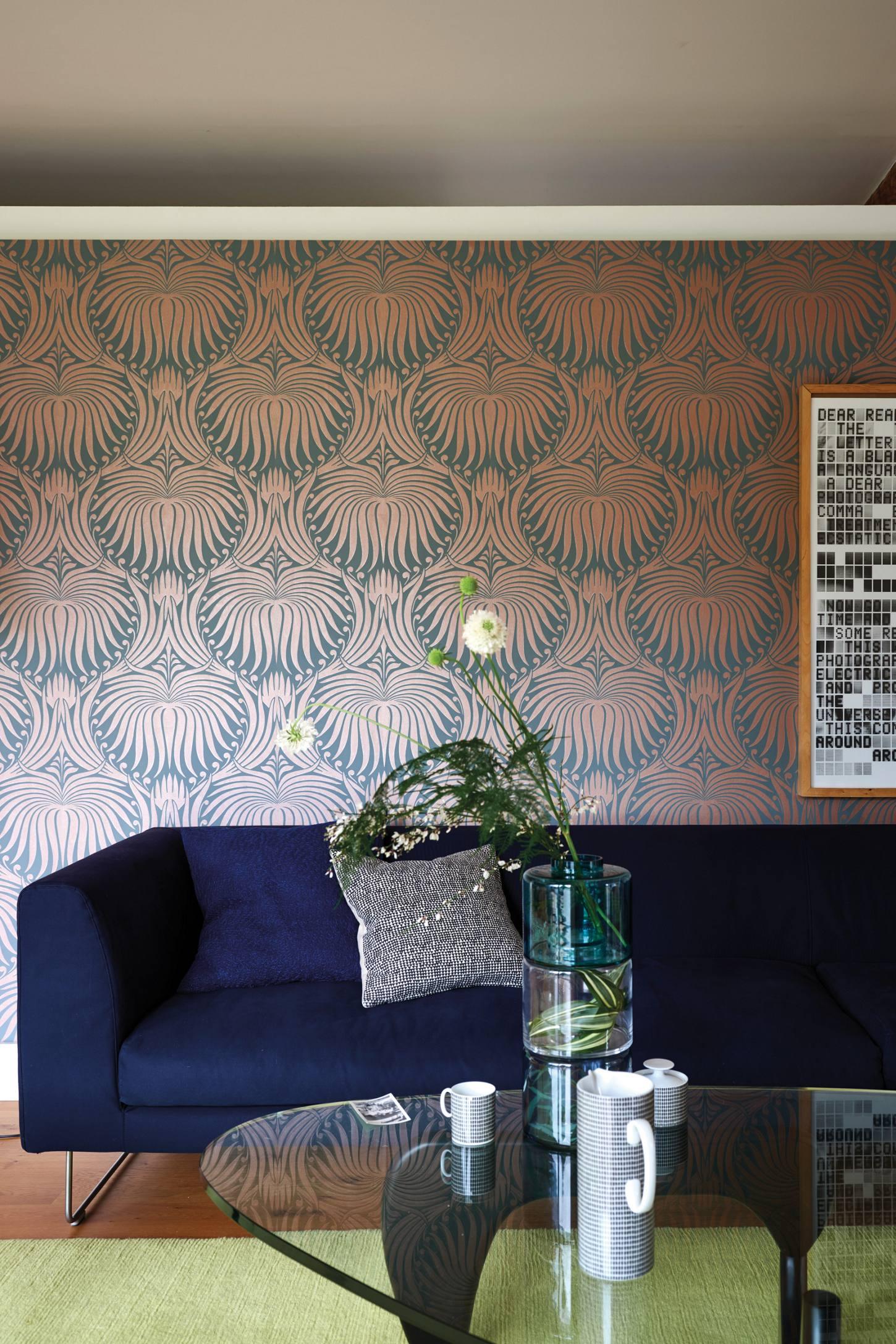 Farrow & Ball Lotus Wallpaper Lotus wallpaper, Home