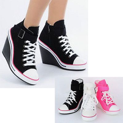 Womens Sport Lace Up Platform Fashion Sneaker Girls Walking Trainers Shoes boots