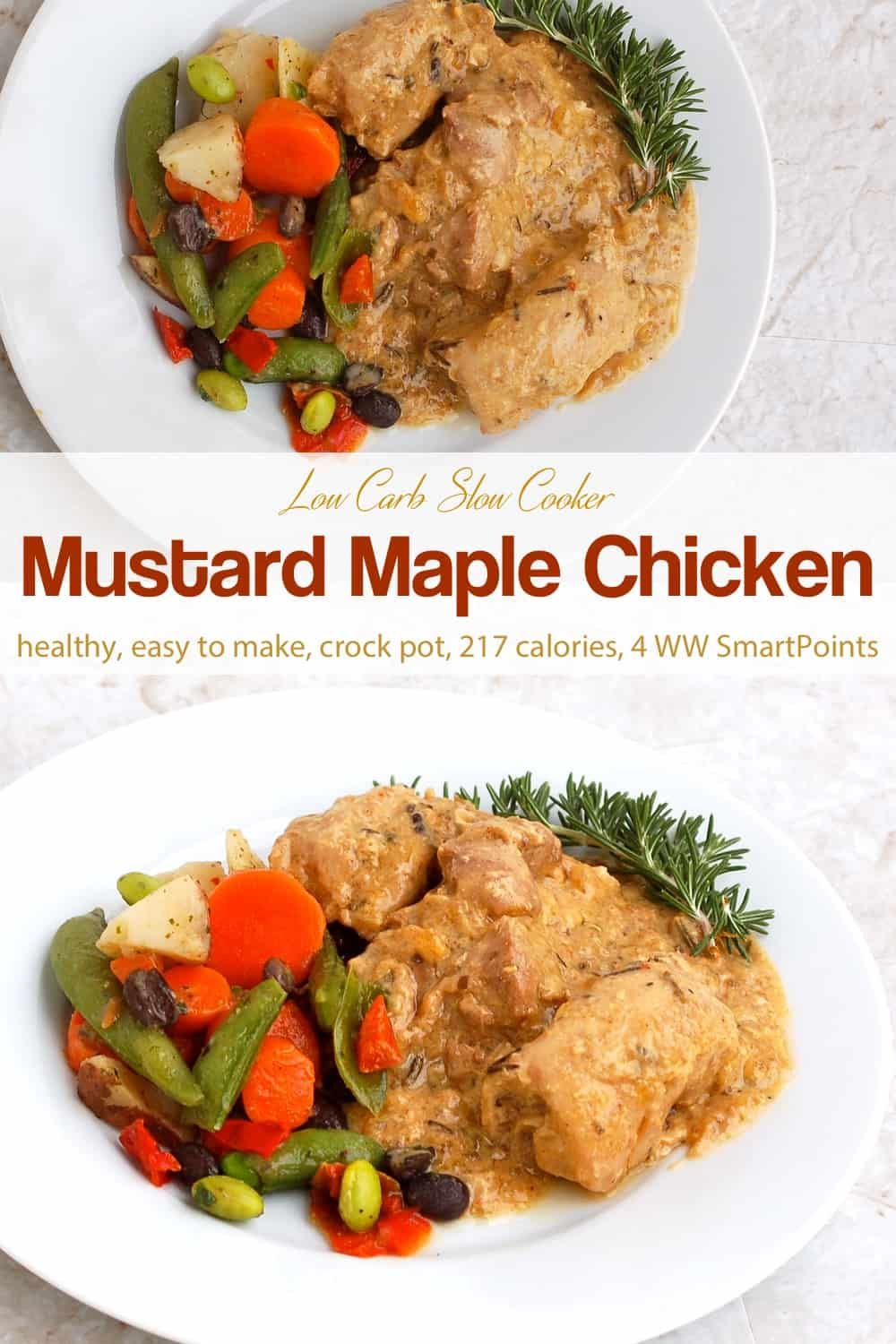 Slow Cooker Chicken With Mustard Amp Maple Recipe Maple Chicken Recipes Chicken Recipes Slow