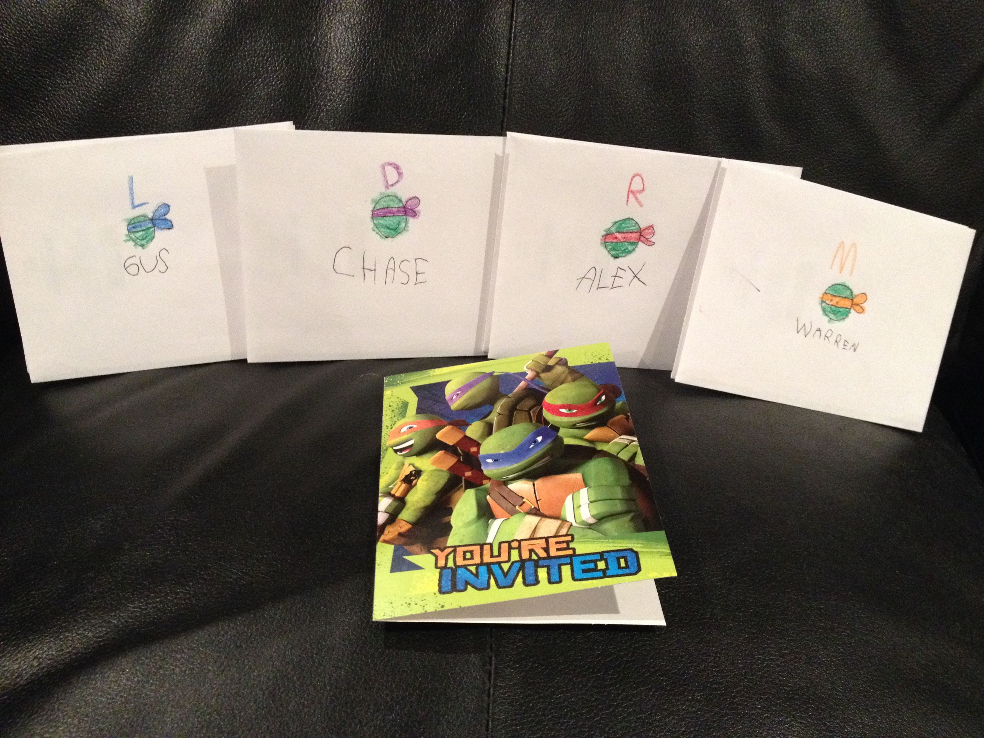 Invitations From Walmart My Little One Personalized Each With His Friends Favourite Ninja