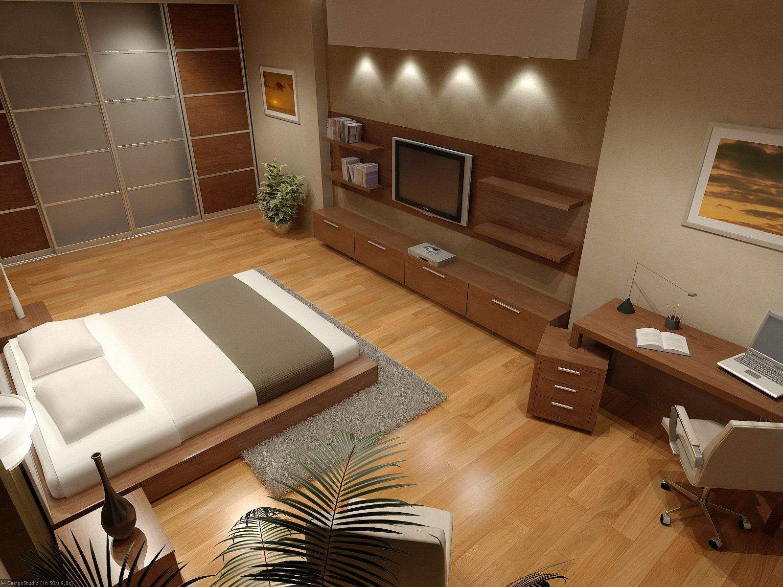 Interior, Bedroom With Wooden Floor And Wooden Thing Other For Modern House  Design: Unique Kind Of The Flooring Designs For House Living And Apartment