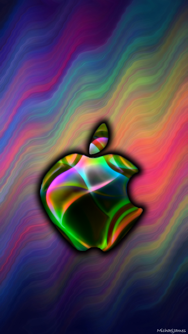 Rainbow Blend Apple Apple iPhone 5s hd wallpapers
