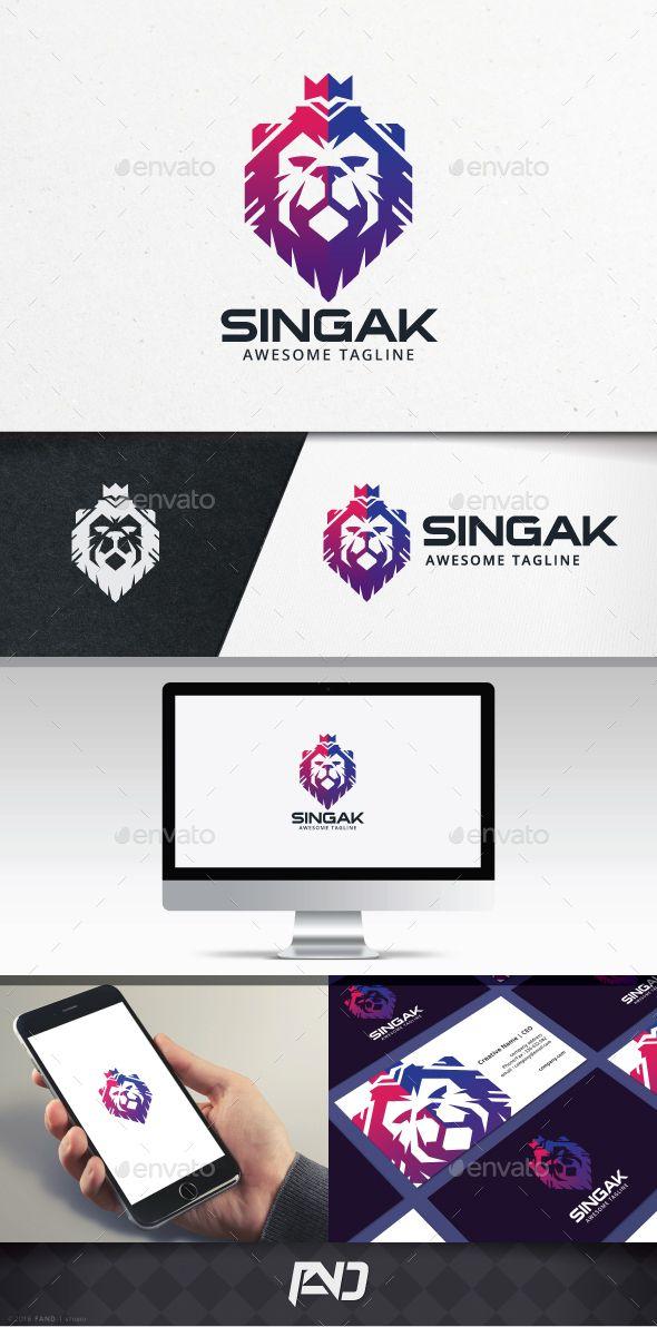 Lion King Logo Template   Logo templates, Ai illustrator and Lions
