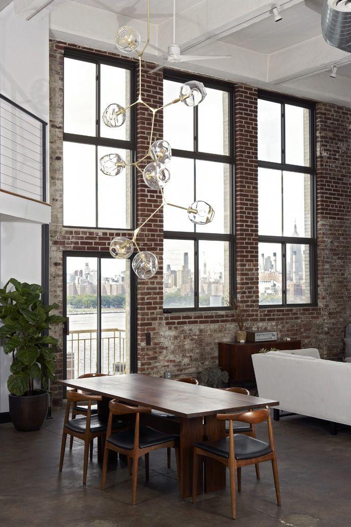 Fenster Loft fenster loft bricks chandeliers and ceilings