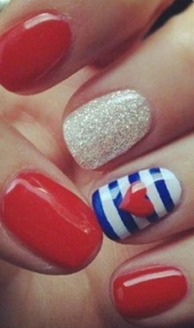 26 Epically Funny Nail Art Fails | French tip nails, Blue