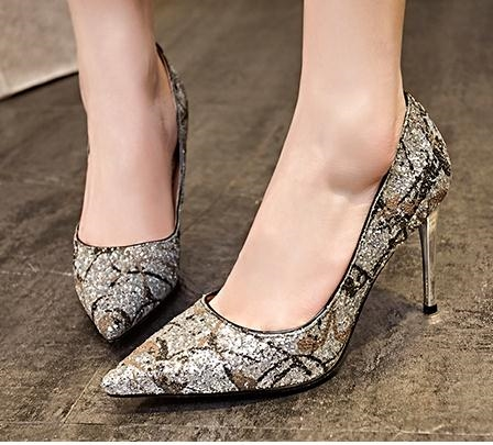 63.90$  Watch here - http://alir05.worldwells.pw/go.php?t=32611240605 - 34-39 Size Women New Fashion Trend Glitter Pumps Girl Pointed Toe Thin High Heel Shoes Female Sexy Party Shoes Mixed Colors Shoe