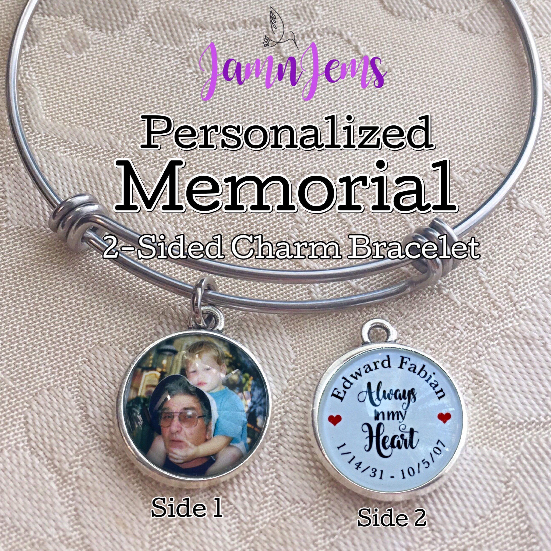 personalized memorial bracelet remembrance jewelry sympathy