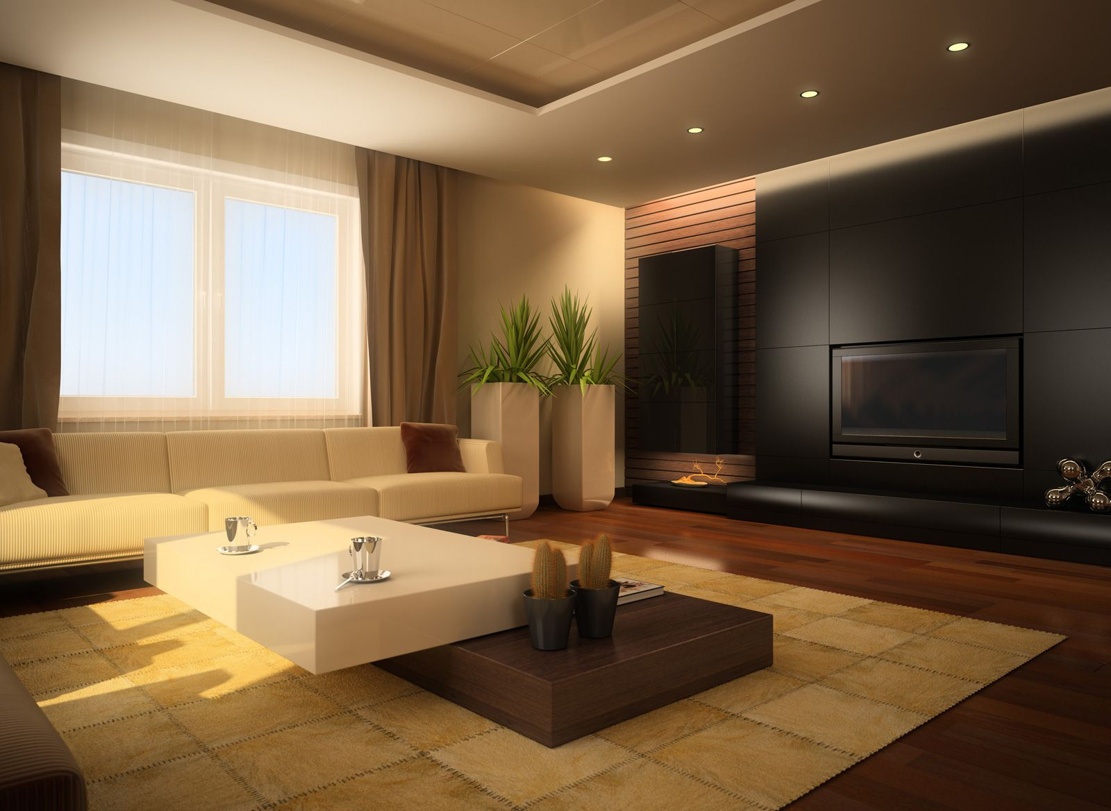 Modern minimalist interior designs for living rooms for Minimalist room design ideas