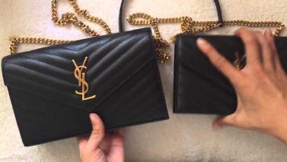 Comparison Large Vs Small Ysl Saint Laurent Monogram Woc Ysl Wallet On Chain Wallet Chain Ysl Bag