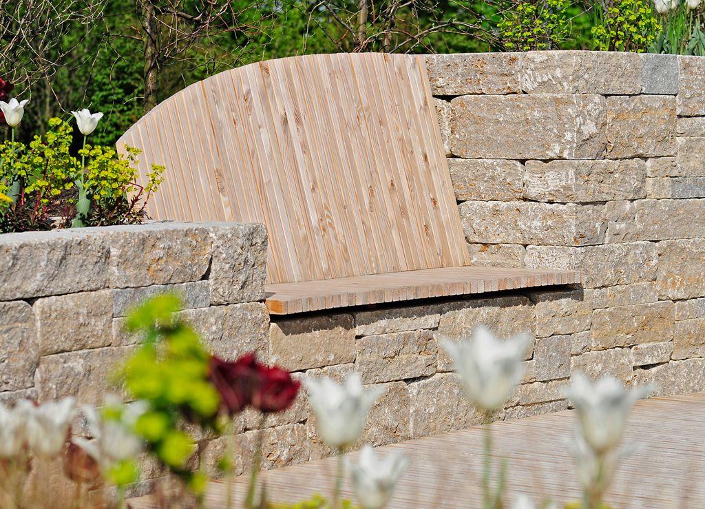 moderner garten mit sitzplatz in einer mauer | garten | pinterest ... - Sitzplatz Im Garten Mit Steinmauer
