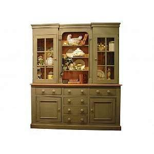 Antique Kitchen Hutch With Gl Doors Hutches Ebuffet Photo