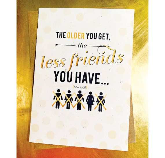 Getting Old Funny Humorous Best Friend Birthday Card Friend