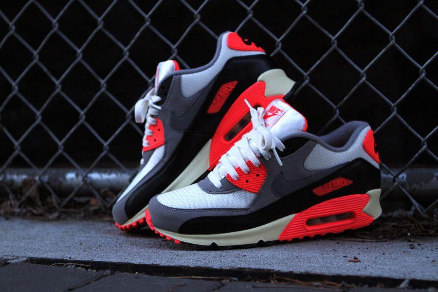 detailing 571bc f272e Nike Air Max 90 OG - Infrared Zapatillas Nike, Zapatos, Calzado Hombre,  Tenis