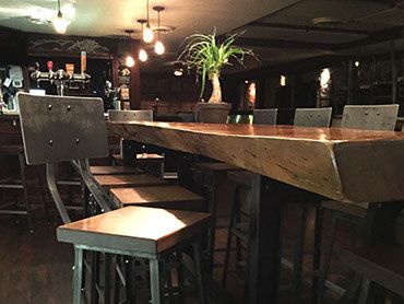 Custom Restaurant Tables Furniture Stools Reclaimed Live Edge Wood Toronto Kitchener Waterloo Guelph Barrie Muskoka Hamilton