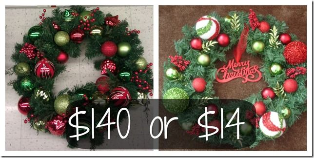 hobby lobby knock off christmas wreath - Hobby Lobby Christmas Wreaths