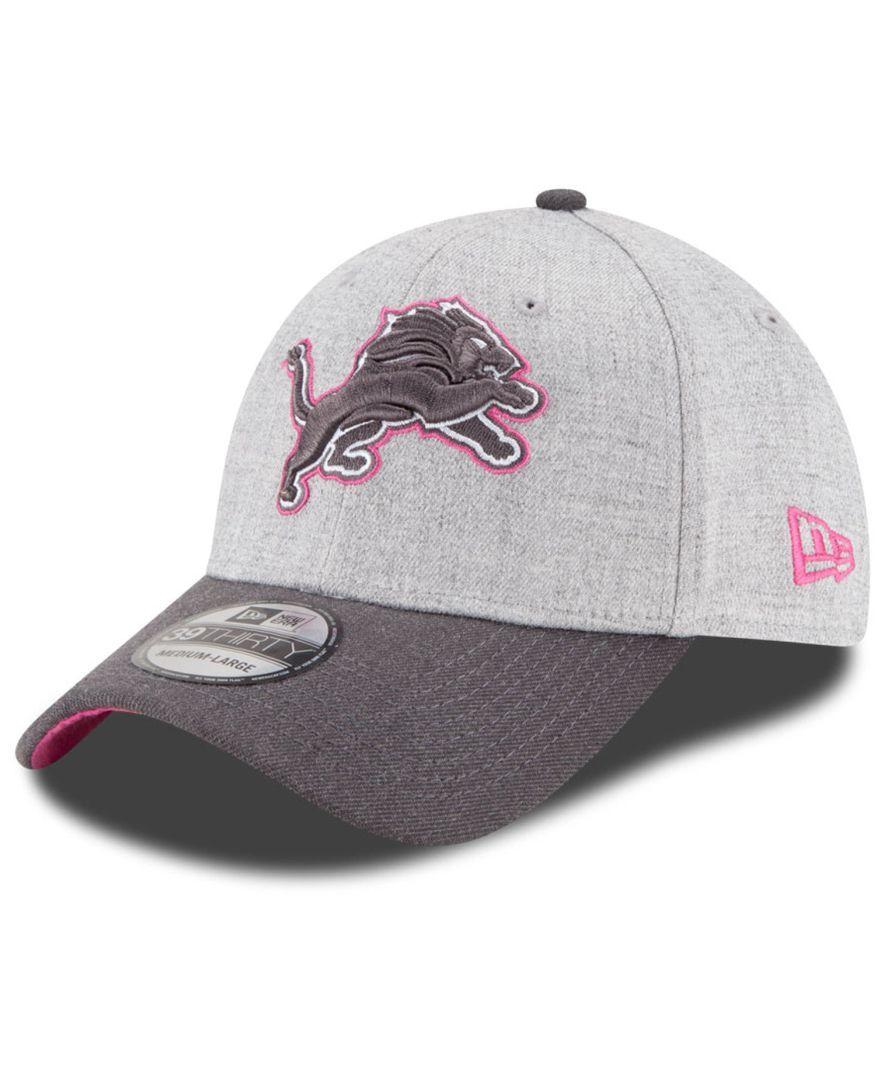 ... usa new era detroit lions breast cancer awareness 39thirty cap 89f6c  50cda 6f96e911a7f3