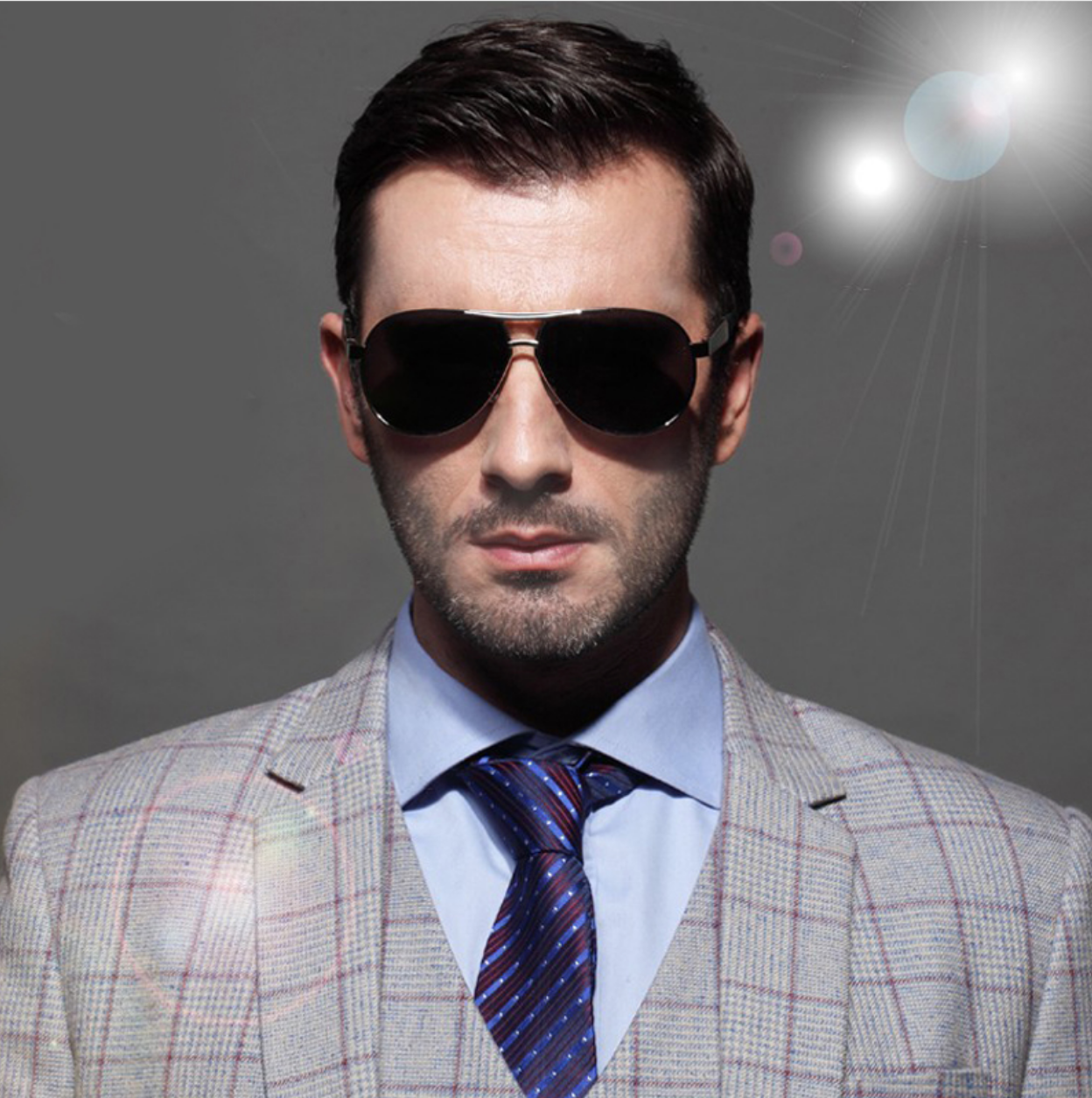 2dd1c3500a Hot male model looking dapper in his new Polarized Aviator Sunglasses. Fancy  being cool like this for less than  25  Click to find out more!
