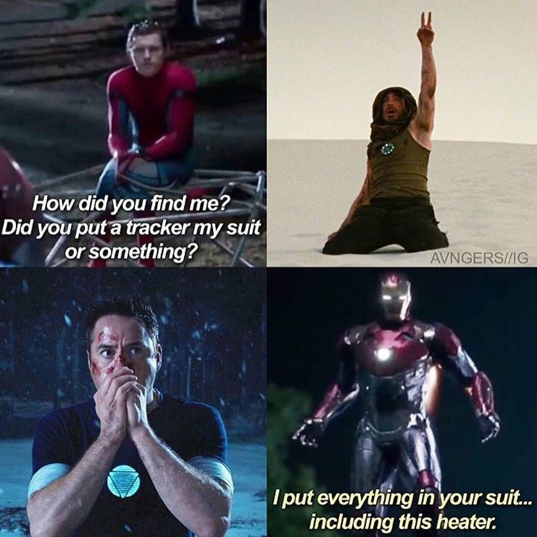 Tony showing how much he cares for peter, he doesn't want