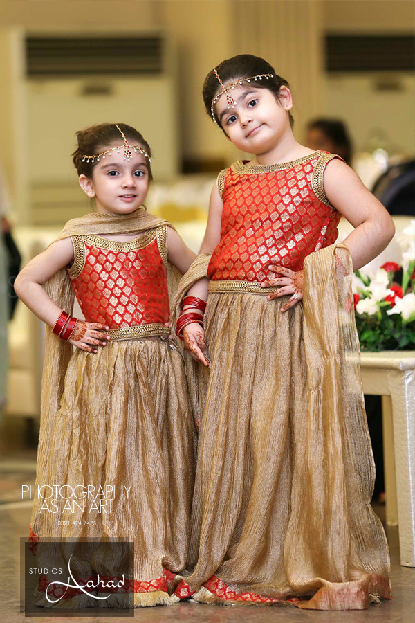 Daughters Double Adorable Pakistani Kids Dresses Wedding Dresses For Kids Baby Girl Party Dresses
