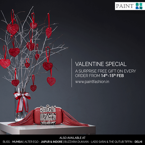 Paint Fashion has a very special Valentine's day offer for you guys! For every order from 14th to 15th February, there will be a surprise free gift waiting, just for you! So hurry and get your surprise goodies! Shop here: http://bit.ly/paintfashion-home #Fashion #Bags #Leather #Stylish #PaintFashion