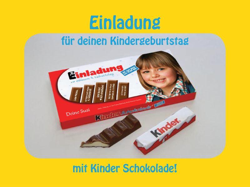 foto- lichttüte = karte | einladung geburtstag, kinderschokolade, Einladungsentwurf