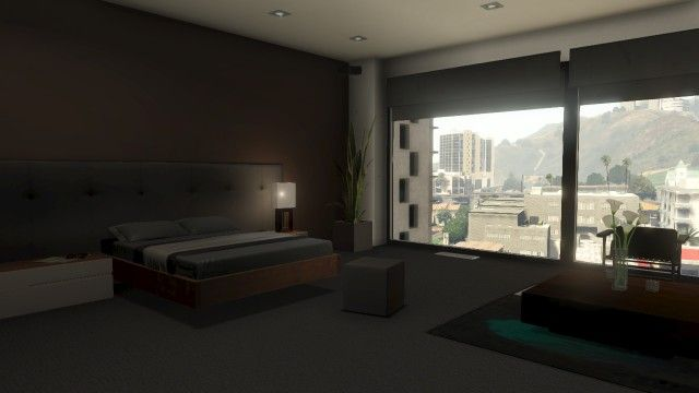 From Gta5 Online A Bedroom Idea For Ben Probably More Windows Like The Hard Rain Apartment Though
