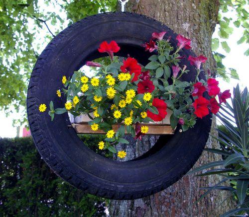Bunte Gartenideen Autoreifen Schlueter Design2,upcycling Alte Reifen,  Weiteres Unter
