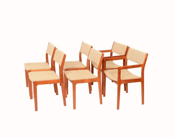 Nice 6 Teak Dining Chairs D Scan Danish Modern 70s By HearthsideHome