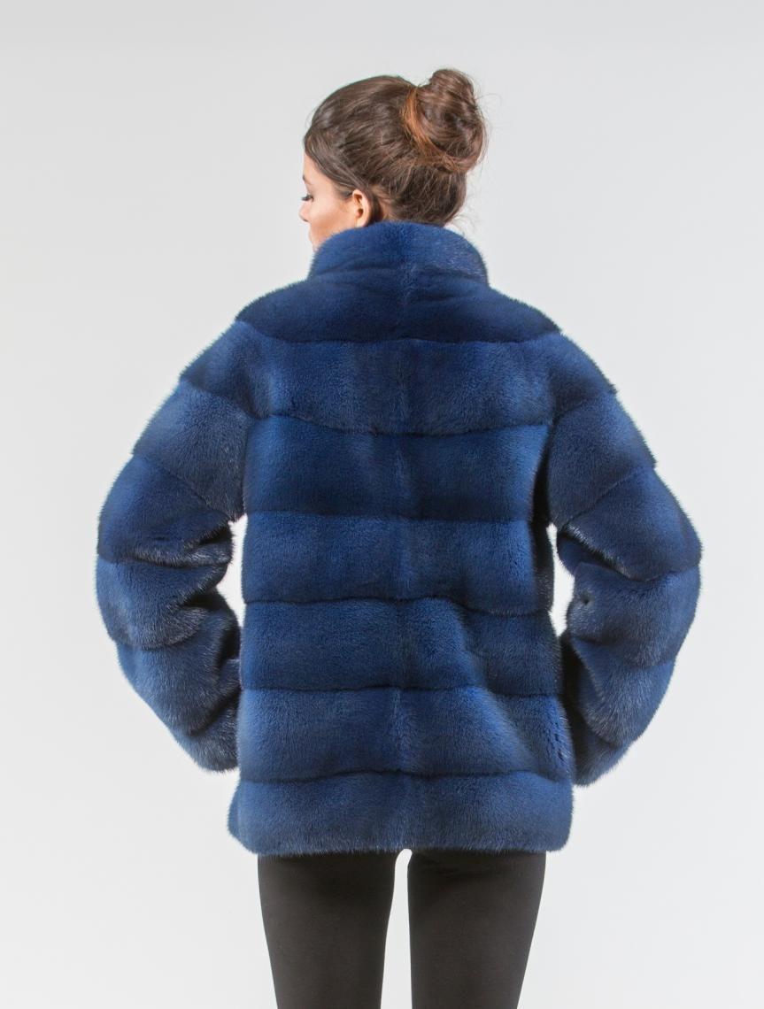 f2b74f4dfeb6 Ice Blue Mink Fur Coat - 100% Real Fur Coats