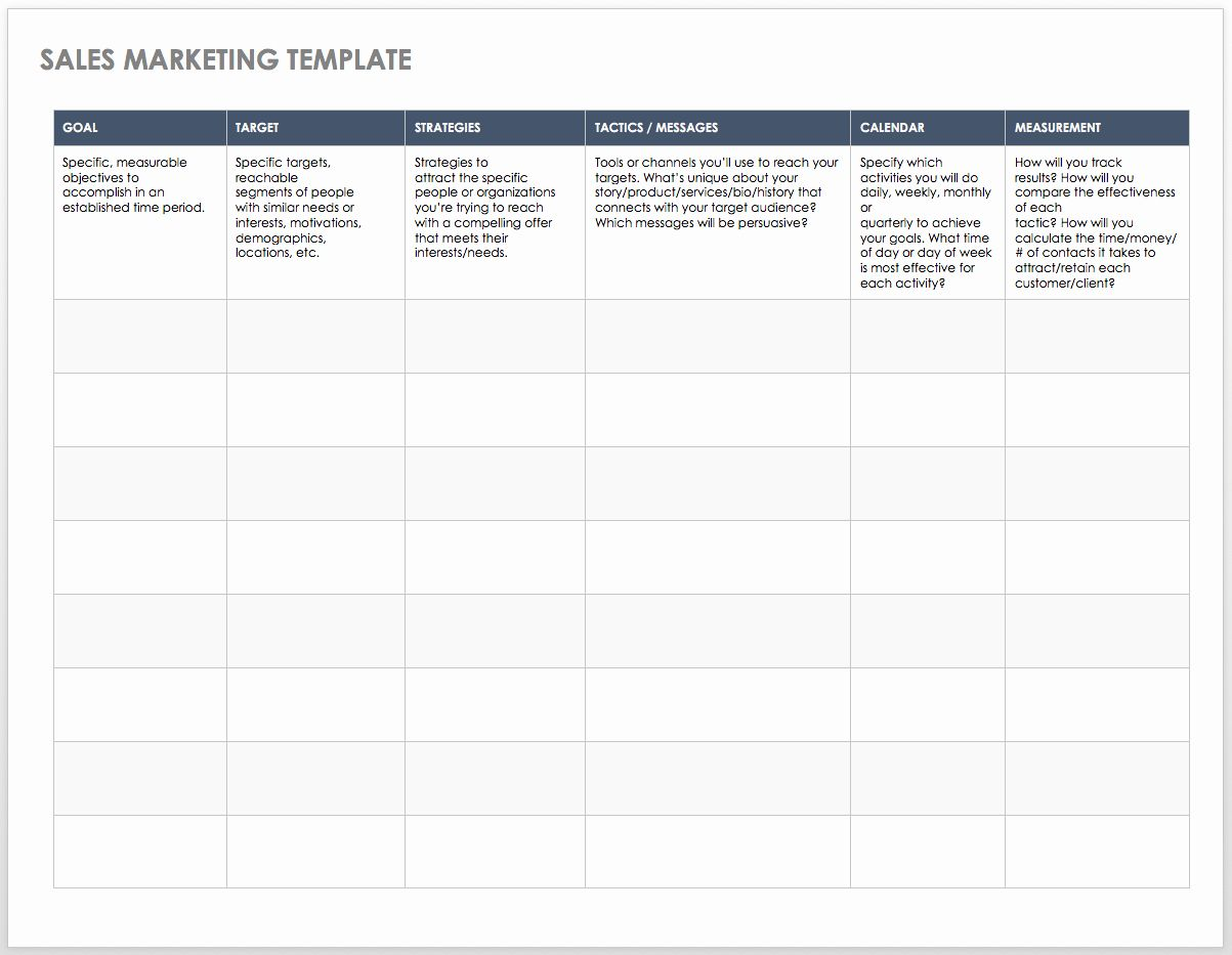 Sales Strategy Plan Template In With Images