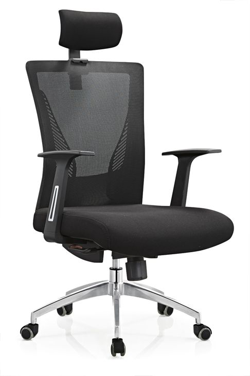 Made In China Factory Price Modern Black Mesh Manager Office Chair With Headrest Ergonomic