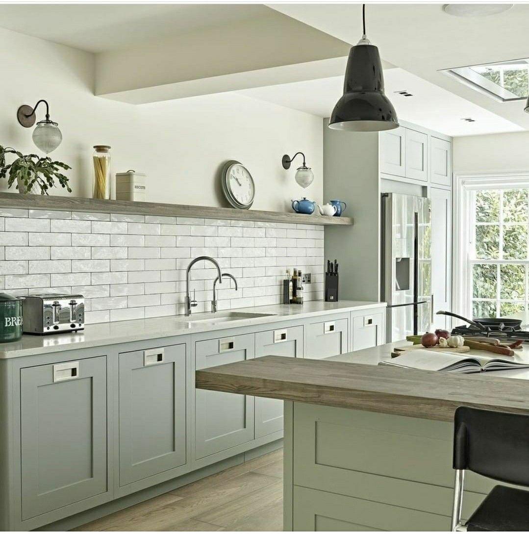 olive kitchen | Shaker style kitchen cabinets, Modern ...