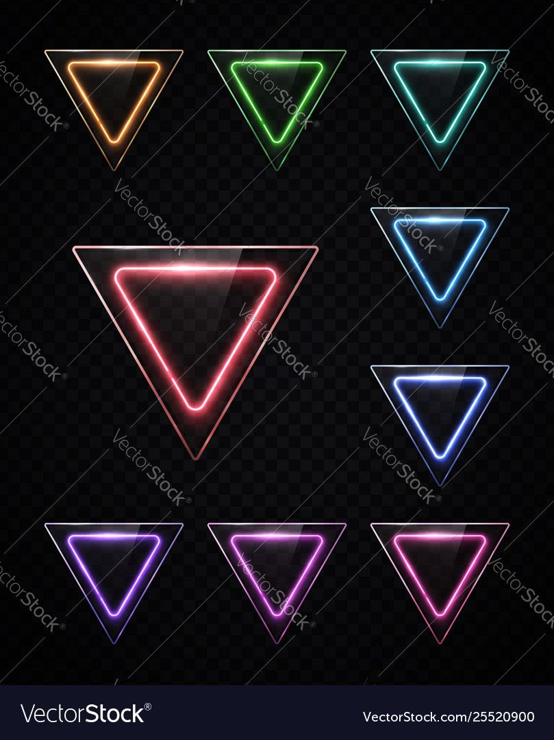 Neon Light Color Set Shining Rounded Triangle Vector Image Sponsored Color Set Neon Light Hexagon Logo Business Cards Diy Templates Triangle Vector