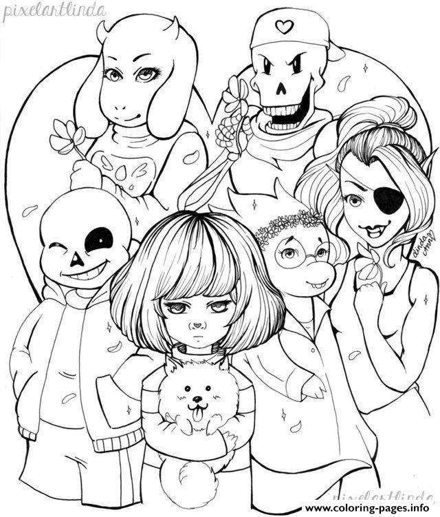 Print Undertale Valentine S Day Free Lineart By Pixelartlinda
