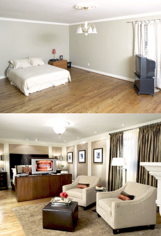 Candice Olson Before After Master Bedroom Layout Remodel
