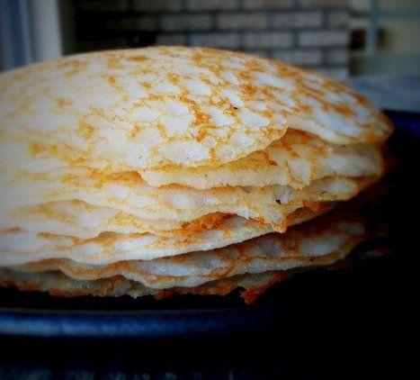 Rice Flour-Coconut Milk Pancakes. Gluten free. HEAVENLY.
