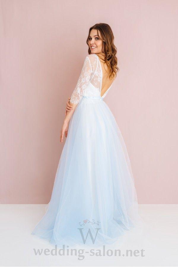 e93c43567879c97 Голубое свадебное платье в стиле бохо LANA (новая коллекция 2017 ...
