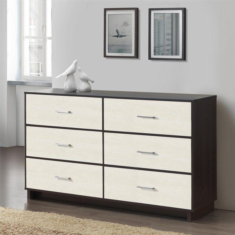 Best Chicopee Wood 6 Drawer Dresser White Room 6 Drawer 400 x 300