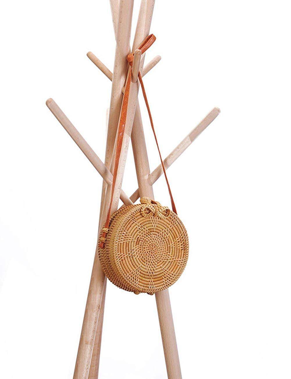 c1605d2872dec Beauty YaYa Womens Ark Ata Rattan Woven Crossbody Bag