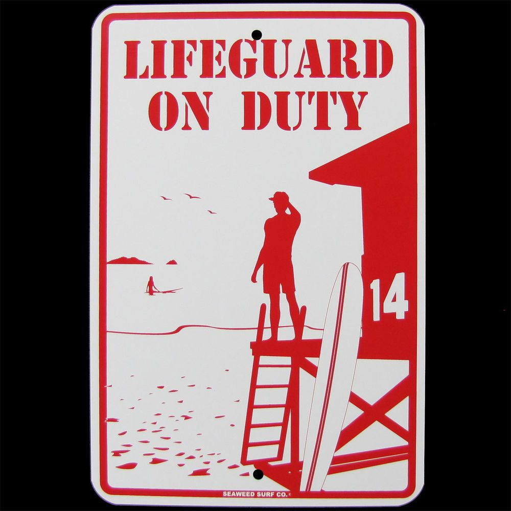 Swimming Pool Plaques Signs Wall Decor Metal Warning Lifeguard On Duty Wall Sign Swimming Poolhot Tub