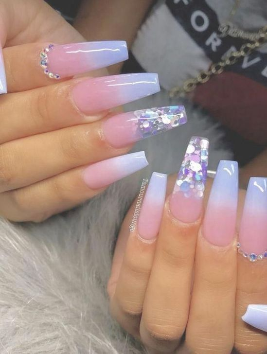 99 Stylish Ombre Long Nail Ideas To Try This Year 2020 Coffin Nails Designs Long Acrylic Nails Cute Nails
