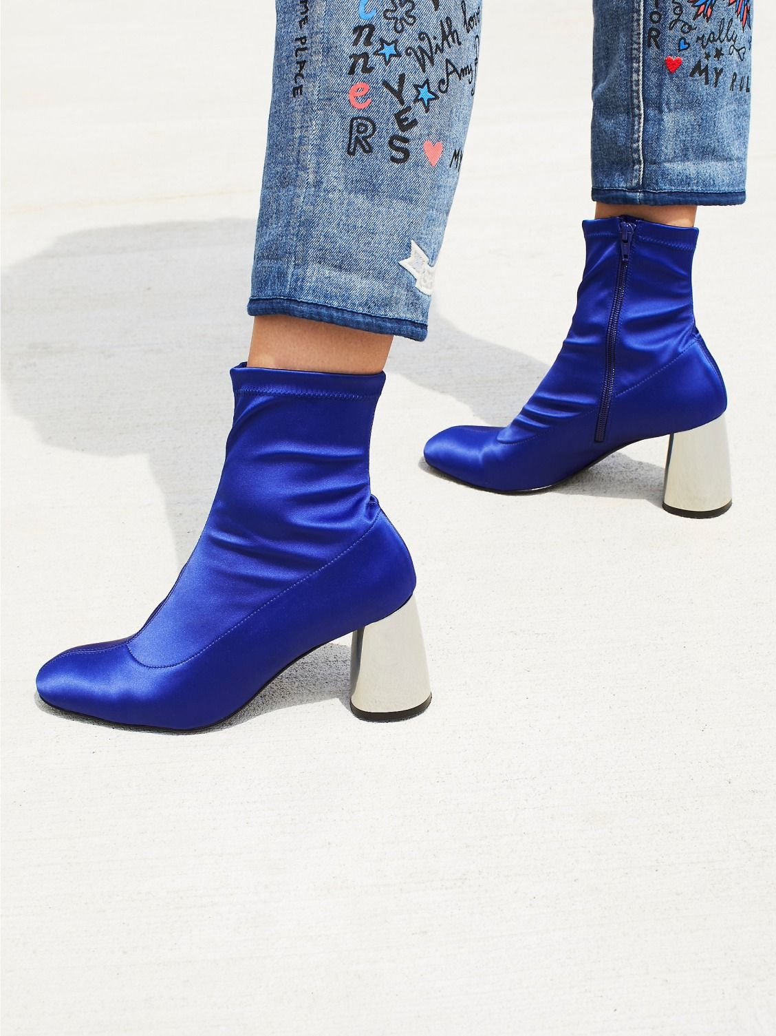 FP Collection Cobalt Spectrum Sock Boot at Free People Clothing Boutique