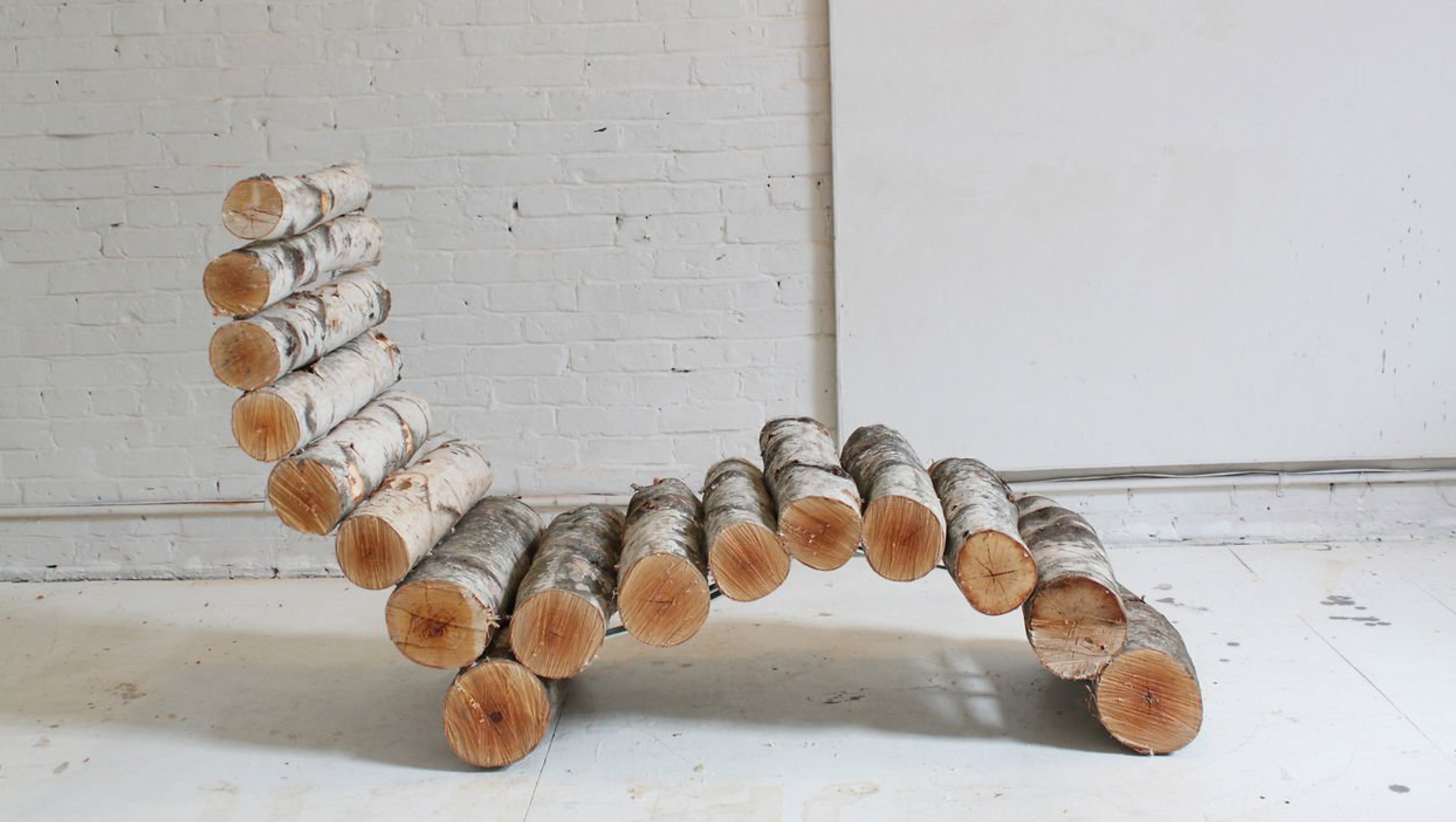Check out this DIY Organic Birch Lounger from http://homemade-modern.com/ep14-log-lounger/