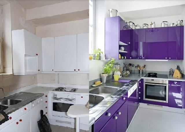 Cómo pintar los muebles de cocina de madera | Dinero, Armario y Pintar