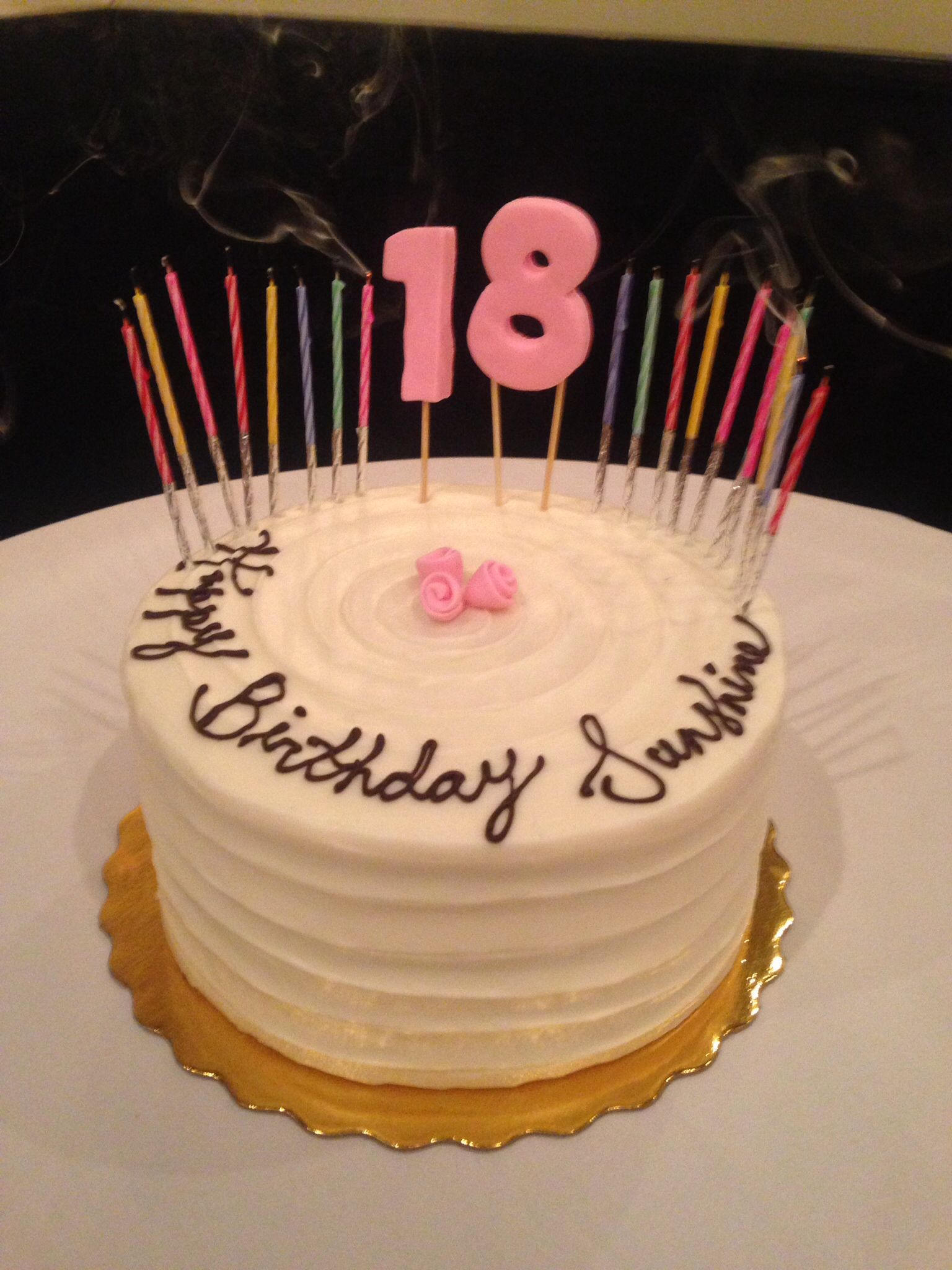 Simple Yet Classy 18th Birthday Cake With Images 18th