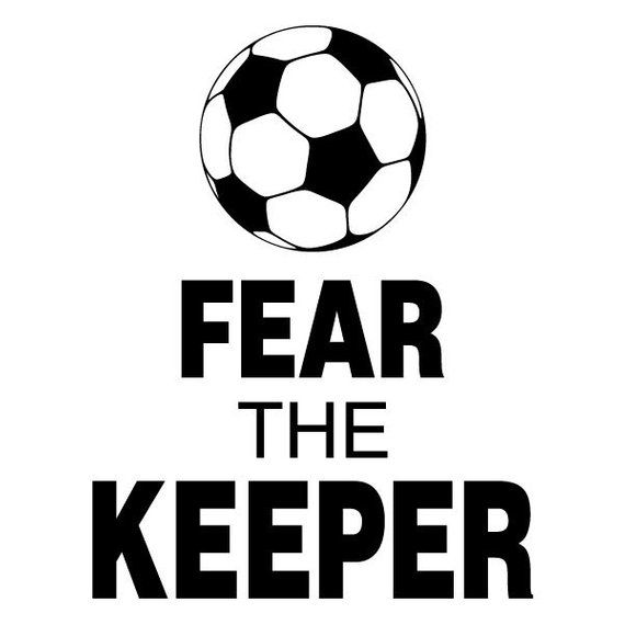 6beae42410744 Wall Quotes Fear The Keeper Vinyl Wall Decal Soccer Sports Ball Goal ...