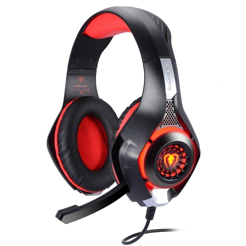 AdaAda 3.5mm Surround Stereo Gaming Headset Headband Headphone with Mic for PC White