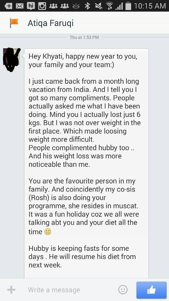 Good wishes testimonials 10 kg in 5 sessions 16 kg in 12