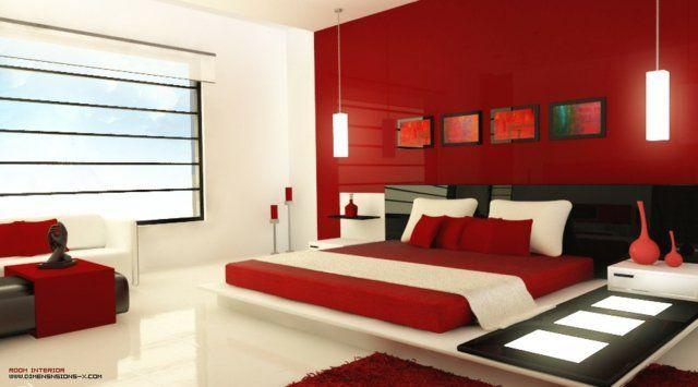 Décoration chambre en couleur rouge - 42 idées mangnfiques ...